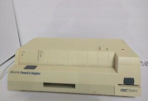 Gbc Bates 32 20st Electric Paper Hole Punch And Stapler Tested And Works