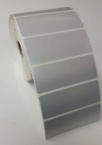 Silver Polyester Thermal Transfer 4 X 1 5 Labels For Zebra 2844 gk gx 1 Roll