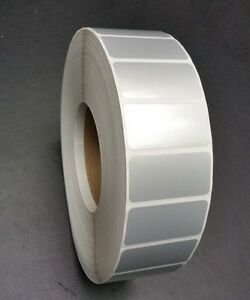 1 75 x1 Silver Thermal Transfer Mylar Labels 3000 roll 3 Core ribbon Required
