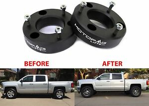 Motofab 2 5 Leveling Kit For 2007 2017 Gm Pickup Trucks Spacers New Free Ship
