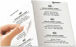 Avery Clear Easy Peel Shipping Labels Laser 2 X 4 500 box