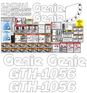 Genie Gth1056 Telehandler Decal Set safety Only