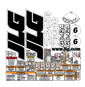 Jlg G6 42a Telehandler Complete Decal Kit
