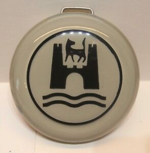 Grey Horn Button W Wolfsburg Crest Vw Volkswagen T1 Bug Karmann Ghia 113951532gb