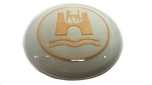 Horn Button With Wolfsburg Crest Grey Gold Vw T 1 Bug Karmann Ghia 113951532gg