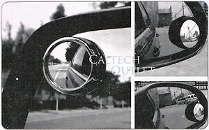 2 Pcs Universal 2 Wide Angle Rear Side View Blind Spot Mirror