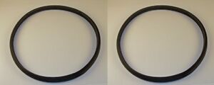 Pair Of Rear Window Rubbers Fits Willys Jeep Station Wagon W garnish Ring 46 48