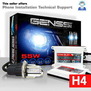 Genssi H4 Hid Headlight Conversion Kit Low Beam 55w X Treme Upgrade 8000k