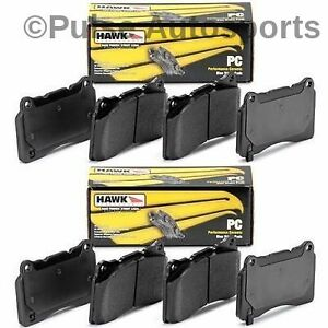 Hawk Ceramic Brake Pads Front Rear Set For 97 04 Chevy C5 Corvette Z06