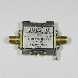 Microwave Solutions Msh 6343405 di 4 10ghz 23db Sma Low Noise Amplifier T2905 Ys