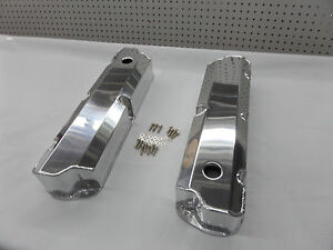 Sbf Ford 289 302 Polished Fabricated Tall Aluminum Valve Covers 8093 8p
