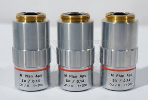 1pc Used Good Mitutoyo M Plan Apo 5x 0 14 Objective Lens Ship By Dhl Ems