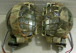 2 130 Watt Off Road Camo 6 Inch Duck Hunting Driving Fog Lights Boat Blind Lamps