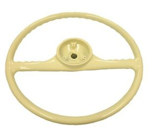 Ivory Steering Wheel Fits Willys Wagon jeepster 46 49 For Deluxe Horn Button
