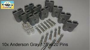 Anderson Sb175 Connector Kit Gray 6325g5 10 Connectors 20 Pins 0 2 Or 4 Awg