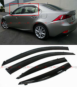 For 2014 19 Lexus Is250 Is350 Is200t Vip Clip On Smoke Window Visor Black Trim