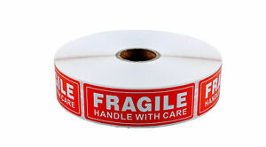 30 Rolls 1 X 3 Fragile Handle With Care Stickers 1000 Per Roll