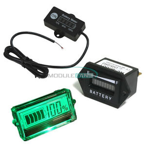 12v 24v 48v Battery Status Charge Led Digital Indicator Meter Monitor Gauge Top