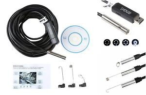 Pipe Inspection Camera Hd 720p Usb Endoscope Video Drain Waterproof 50ft Cable