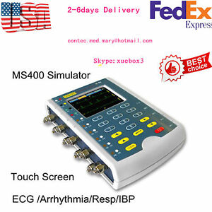 Us New Ms400 Touch Multi parameter Patient Simulator ecg Simulator resp Temp Ibp