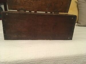 Old Wooden Box With Locking Key