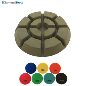 3 Dry Diamond Resin Bond Polishing Pads For Concrete Floor 1500 3pcs