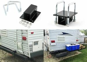 Rv Square Bumper Bike Cargo Carrier Hitch Receiver Adapter Mount New Free Ship