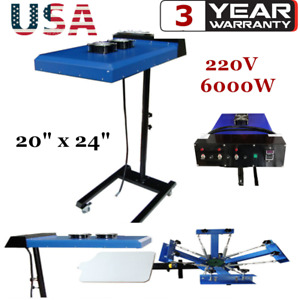 Usa 20 X 24 Silk Screen Automatic Ir Flash Dryer With Sensor 6000w 220v 50hz