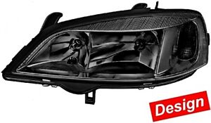 Hella Opel Astra G 1998 2005 Black Headlight Front Lamp Right