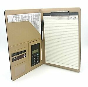 Executive Portfolio Folder Letter Size Writing Pad With Calculator Card Holder
