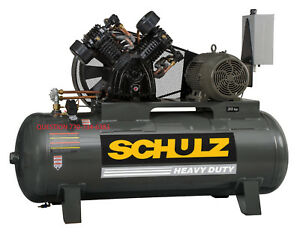 Schulz 20hp 120 gallon Two stage Air Compressor 80 Cfm new