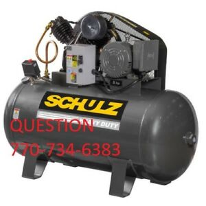 Schulz Air Compressor 7 5hp Single Phase 80 Gallon Tank 30cfm New