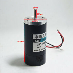 Dc12v 24v 15w 2000 4000rpm High Speed Large Torque Motor Adjustable Speed Cw ccw