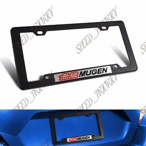 Mugen Silver Car Trunk Emblem With Abs License Plate Tag Frame For Honda X1