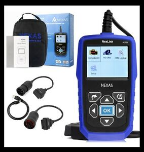 Heavy Duty Truck Car Obd2 Diagnostic Hd Code Reader Diesel Scanner Nexas Nl102