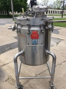 50 Gallon Cherry burrell Jacketed Reactor Stainless Steel