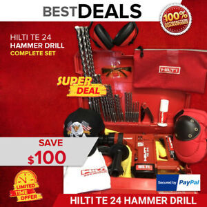 Hilti Te 24 Hammer Drill Nice Condition Free Hilti Bag Bits Quick Ship