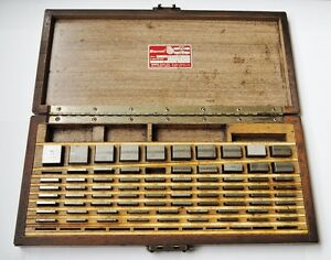 Starrett Webber 1001 1 000 Gage Block Set 76 Pieces Model Ss84a1