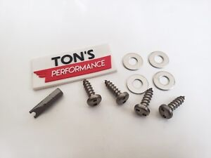 4 Domestic Theft Deterrent Auto Security License Plate Screws Stainless Steel Sn