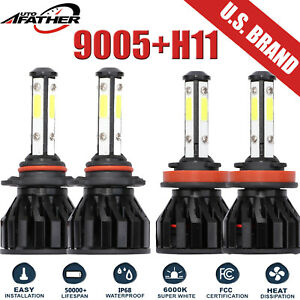 4 sided 6000k 9005 h11 Car Led Headlight For 2008 2014 Gmc Sierra 2500 Hd