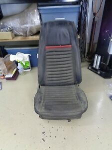 1969 1970 Mach 1 High Back Bucket Seat Red Stripe Original