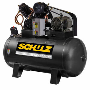 Schulz V series 7 5 Hp 80 gallon Two stage Air Compressor 30 Cfm 1 Ph 3 Ph new