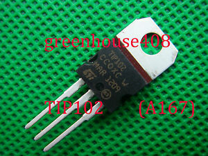 50pcs Tip102 Npn 100v 8a Darlington Transistor To 220 a137
