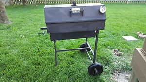 Bbq Smoker Good One Open Range In Good Condition With New No Flat Wheels