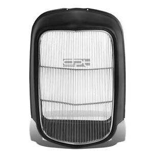 Fit 1932 Model B Bb 18 Stamped Steel Front Grille Shell Stainless Grill Insert