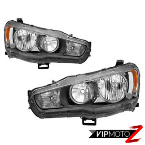 For 08 17 Mitsubishi Lancer Gts Evo factory Style Headlight Lamps Assembly Set