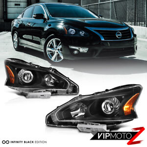 For 13 15 Nissan Altima factory Style Black Projector Headlight Lamp Assembly