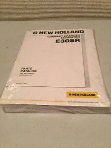 New Holland E30sr Compact Crawler Excavator Parts Catalog