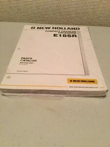 New Holland E18sr Compact Crawler Excavator Parts Catalog