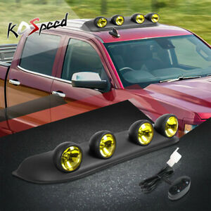 4x4 Universal Abs Yellow Off road Style Roof Top Mount Round Fog Light lamps